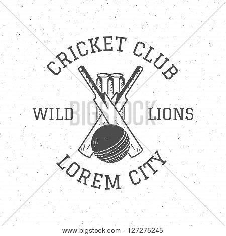 Retro cricket club logo icon design. Vintage Cricket vector emblem. Cricket badge. Sports tee design and symbols with cricket gear, equipment for web or t-shirt print.