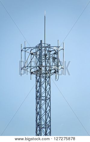 4G Cell site Telecommunications radio tower or mobile phone base station