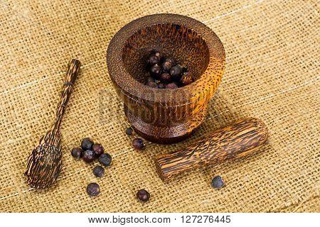 Dried Fruits of Juniper, Seasoning Studio Photo