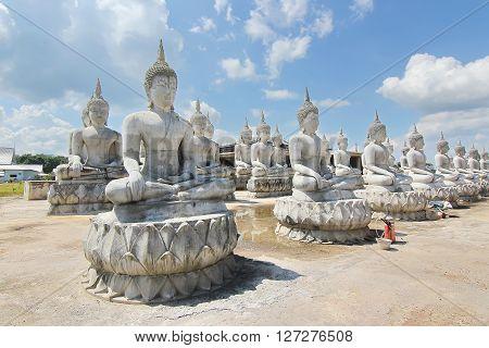 View of Buddha statue park in Nakhon Si Thammarat Thailand