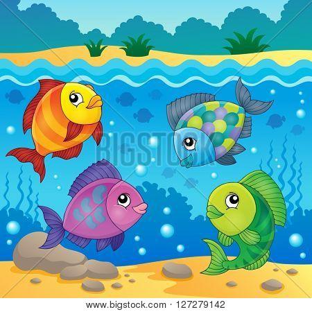 Fish topic image 4 - eps10 vector illustration.