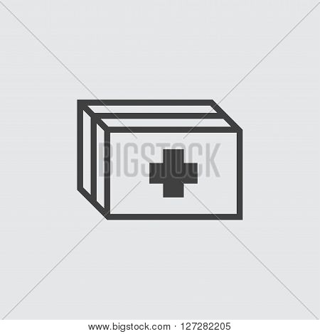 First aid box icon illustration isolated vector