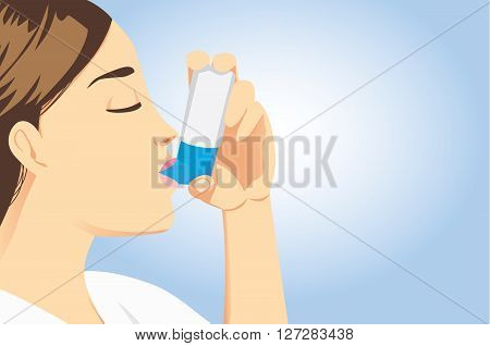 Allergic patient use asthma inhalers for delivering medication into the body via the lungs. Stop allergic symptoms.