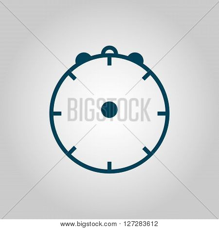 Clock Icon In Vector Format. Premium Quality Clock. Web Graphic Clock Sign On Grey Background.