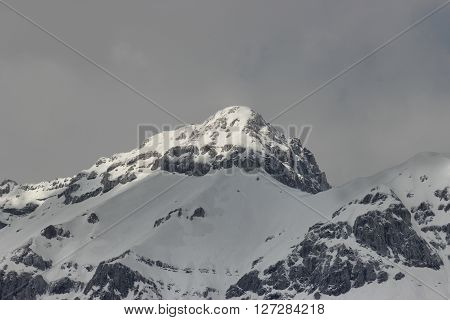 Apennines mountain range in Italy beautiful peak the Gran Sasso natural reserve landscape
