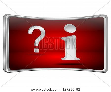 information and question button - 3D illustration