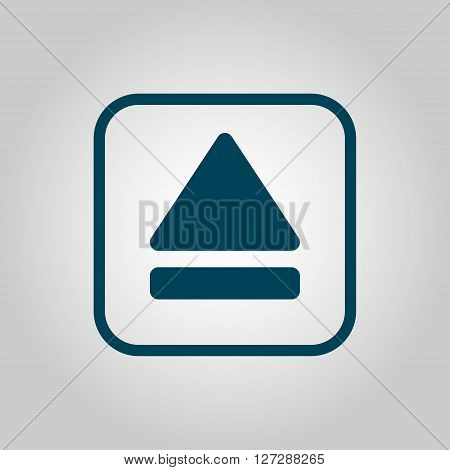 Music Eject Icon In Vector Format. Premium Quality Music Eject. Web Graphic Music Eject Sign On Grey
