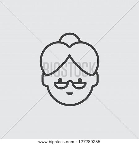 Grandmother icon illustration isolated vector sign symbol