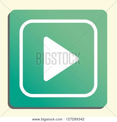 Music Play Icon In Vector Format. Premium Quality Music Play. Web Graphic Music Play Sign On Green L
