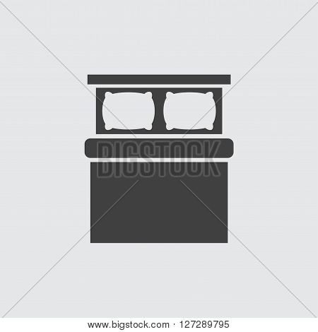 Double bed icon illustration isolated vector sign symbol