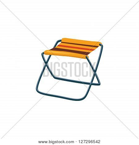 Foldable Camp Chair Cartoon Simple Style Colorful Isolated Flat Vector Illustration On White Background