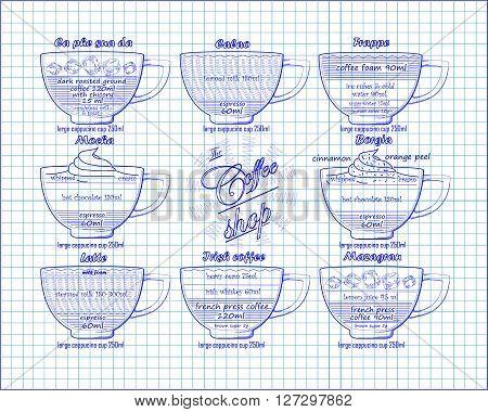 Coffee Scheme  Calao, Frappe,mocha, Borgia, Latte, Irish, Mazagran,