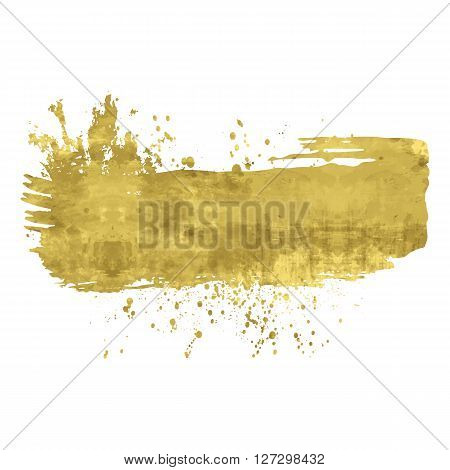Golden abstract background or banner. Shine isolated design element. Vector illustration. Easy editable template. Bright festive backdrop.