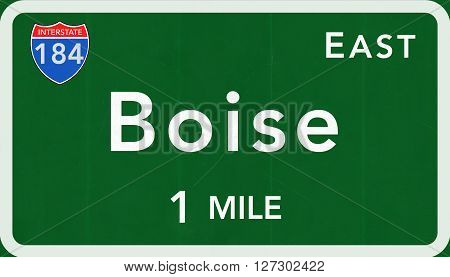 Boise Usa Interstate Highway Sign