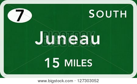Juneau Usa Interstate Highway Sign