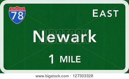 Newark Usa Interstate Highway Sign