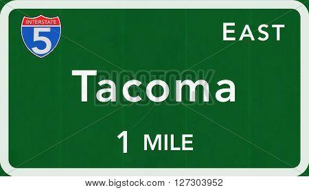 Tacoma Usa Interstate Highway Sign