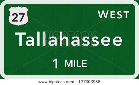 Tallahassee Usa Interstate Highway Sign