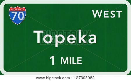 Topeka Usa Interstate Highway Sign