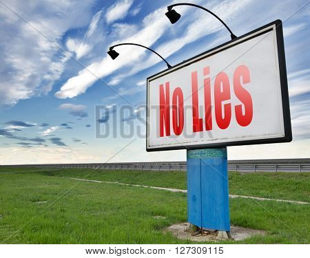 stop lies no more lying tell the truth