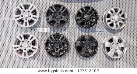Black And White Alloy Wheels