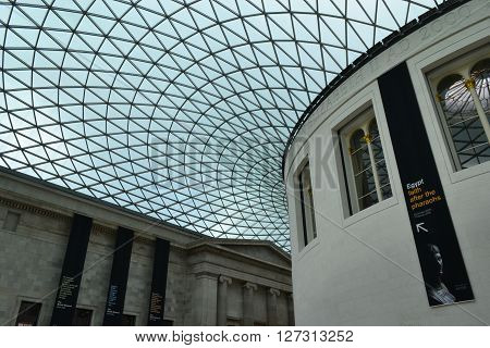 LONDON - FEBRUARY 04 The British Museum is a museum of the city of London, UK, one of the most important and visited museums in the world. London, UK, February 04, 2016