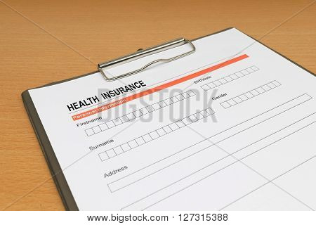 health Insurance application form. health, claim, coverage, secure,