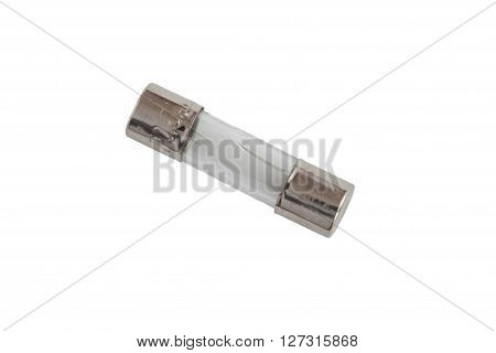 A old fuse on the white background