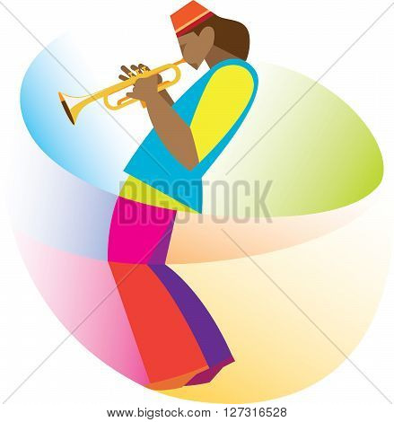 young musician in the header is a talented trumpet player