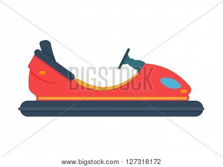 bumper car vector illustration isolated on white background
