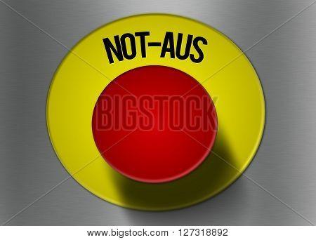 emergency shut off button in german language