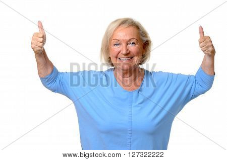 Enthusiastic Motivated Senior Woman