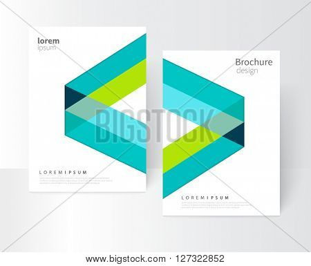 blue and green cover brochure, annual report, flyer template. abstract geometric vector background/ EPS 10