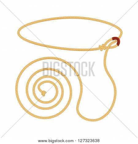 Lasso vector illustration isolated on a white background