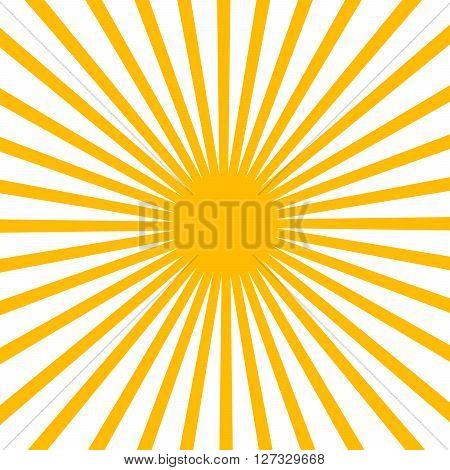 Vector Flat Yellow sun sunrise sunset 2