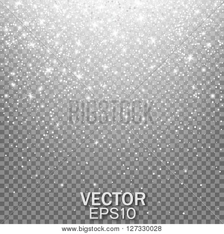 Star Effects, Stardust on a transparent background, Falling Star, Glow light effect. Vector illustration EPS10