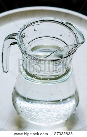a single decanter with a fresh water
