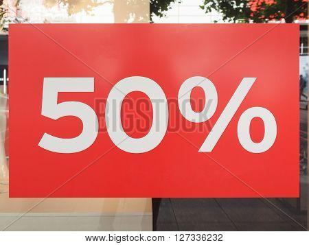 Sales Discount Sign