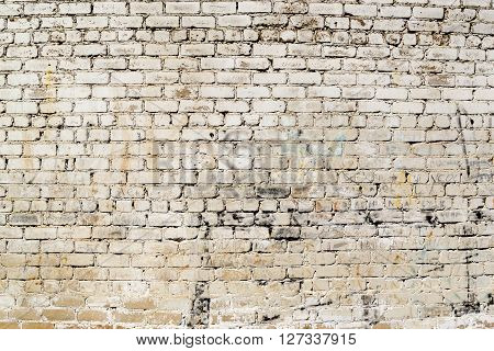 Grimy White Dirt Stained Painted Grunge Wall