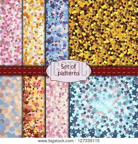 Set of eight bright colored different backgrounds