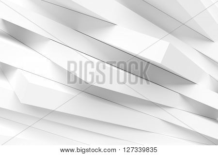 Abstract Architecture Design. White Modern Background. 3d Rendering