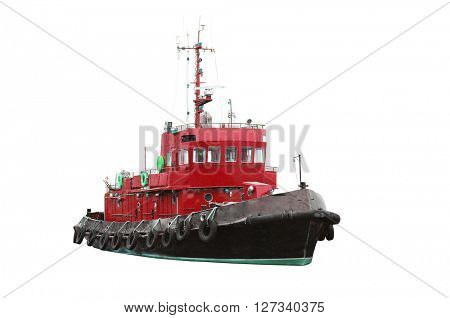 towboat isolated under the white background