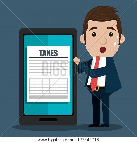 tax time design , vector illustration eps10 graphic