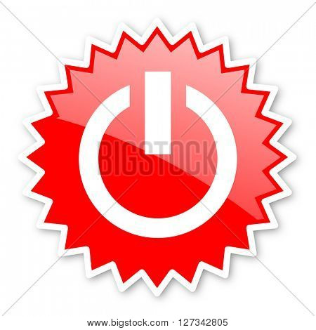 power red tag, sticker, label, star, stamp, banner, advertising, badge, emblem, web icon