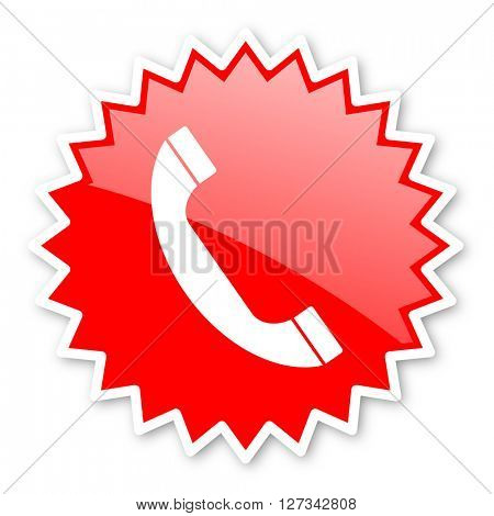 phone red tag, sticker, label, star, stamp, banner, advertising, badge, emblem, web icon