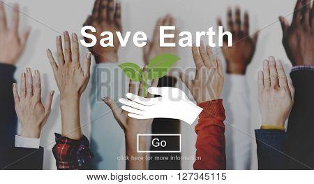 Save Earth Environmental Conservation Eco Concept