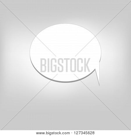 Vector moder banner icon buble speesh illustration