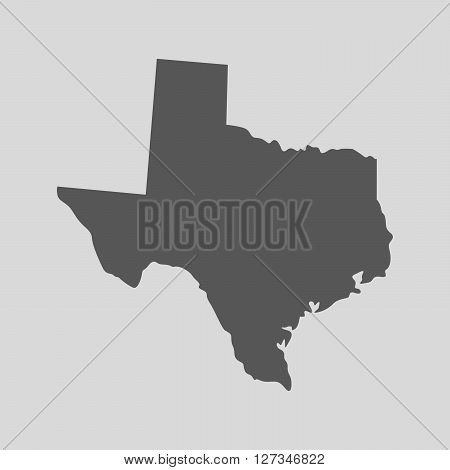 Black map of the State of Texas - vector illustration. Simple flat map State of Texas.