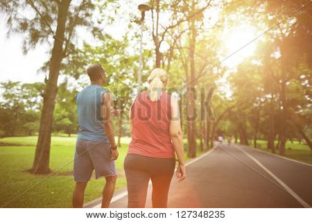 Sport People Run Healthy Lifestyle Concept