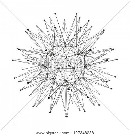 Sphere with Connected Lines and Dots. Global Digital Connections. Globe Grid. Wireframe Sphere Illustration. Abstract 3D Grid Design. Glowing Grid. 3D Technology Style. Networks - Globe Design.